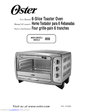 oster toaster oven model 6057 manual