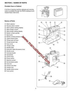 owners manual for kenmore sewing mach model 385 online