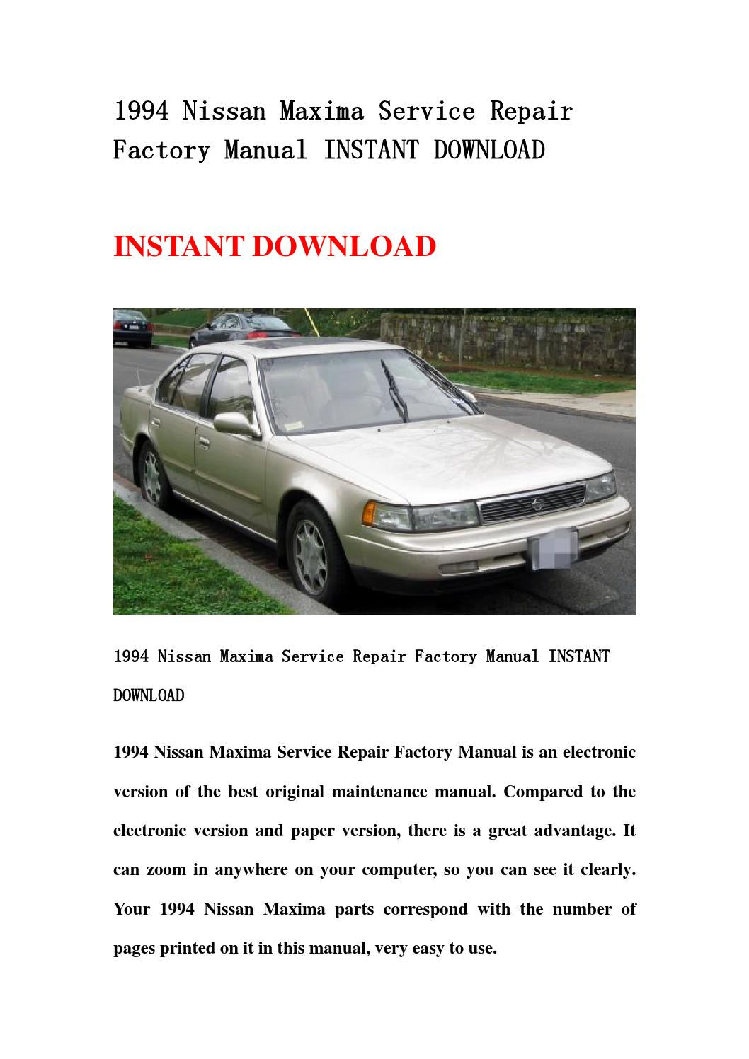 2000 nissan maxima repair manual download
